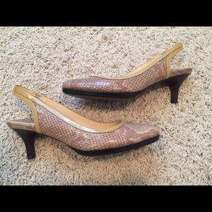 NWOT Cole Haan Snake Print Heels